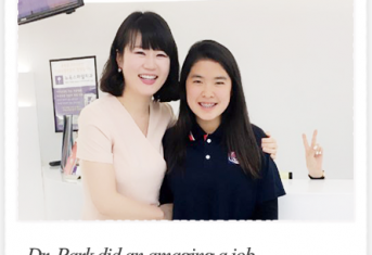 Dr.Park did an amaging a job on my daughter's teeh :: New York Smile review :: Busan Braces treatment review