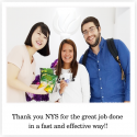 Thank you NYS for the great job done in a fast and effective way!!